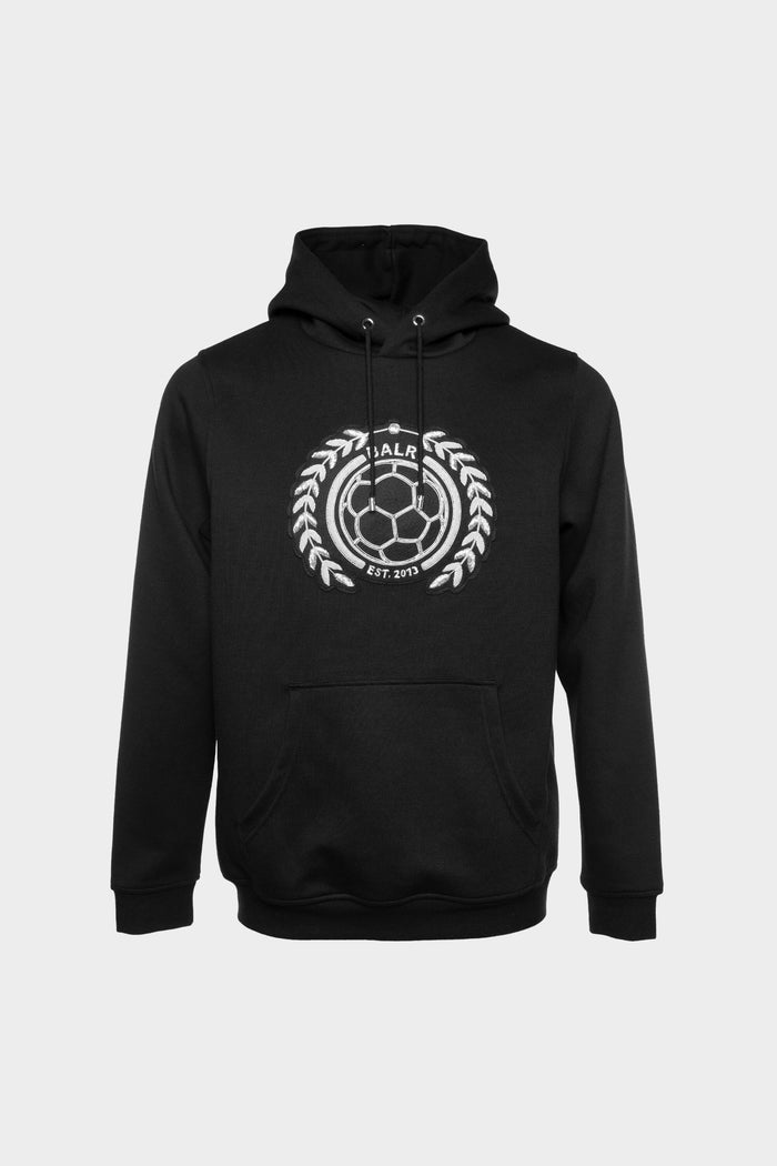 LOAB Badge Straight Hoodie Black