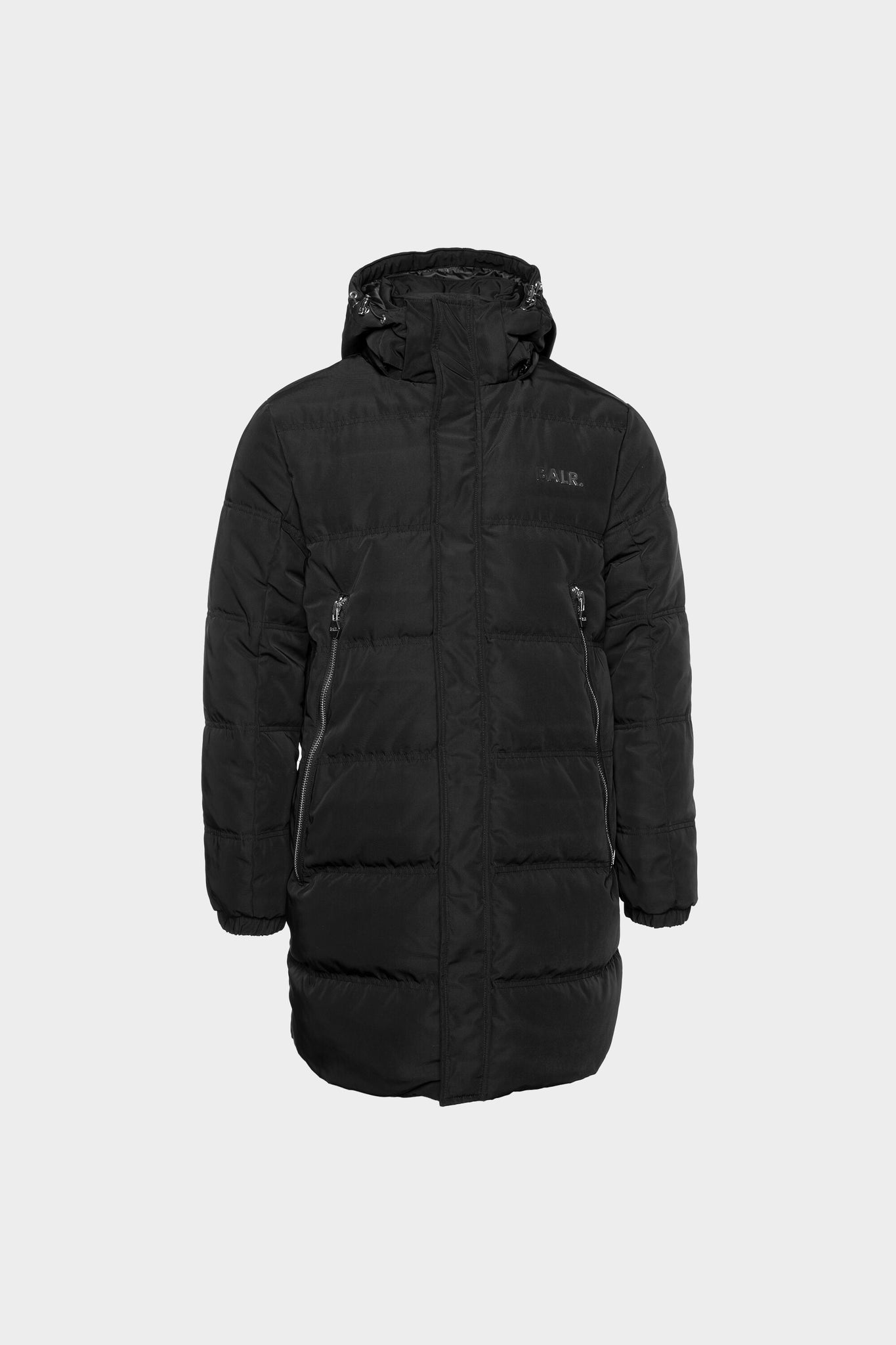 BALR. Long Parka Down Jacket Black