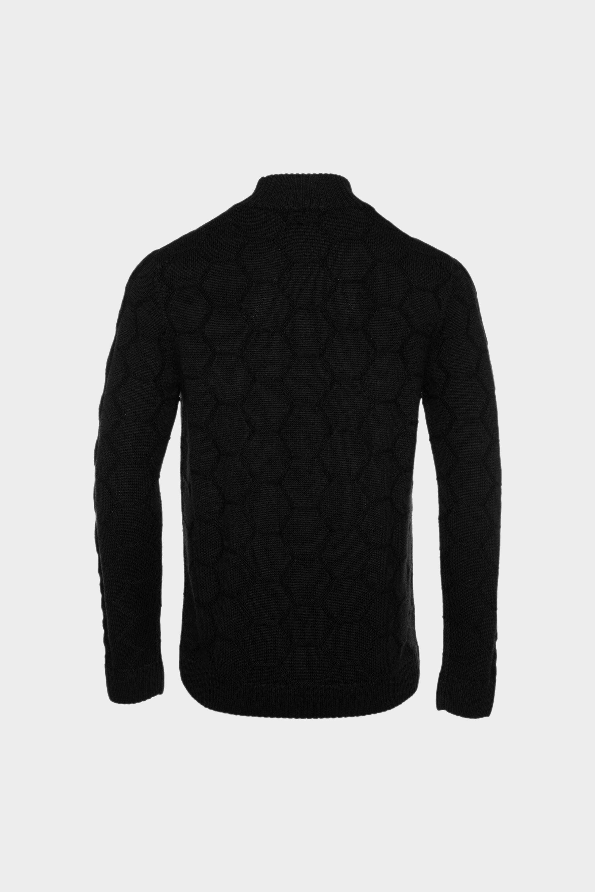 Knitted Hexagon Sweater