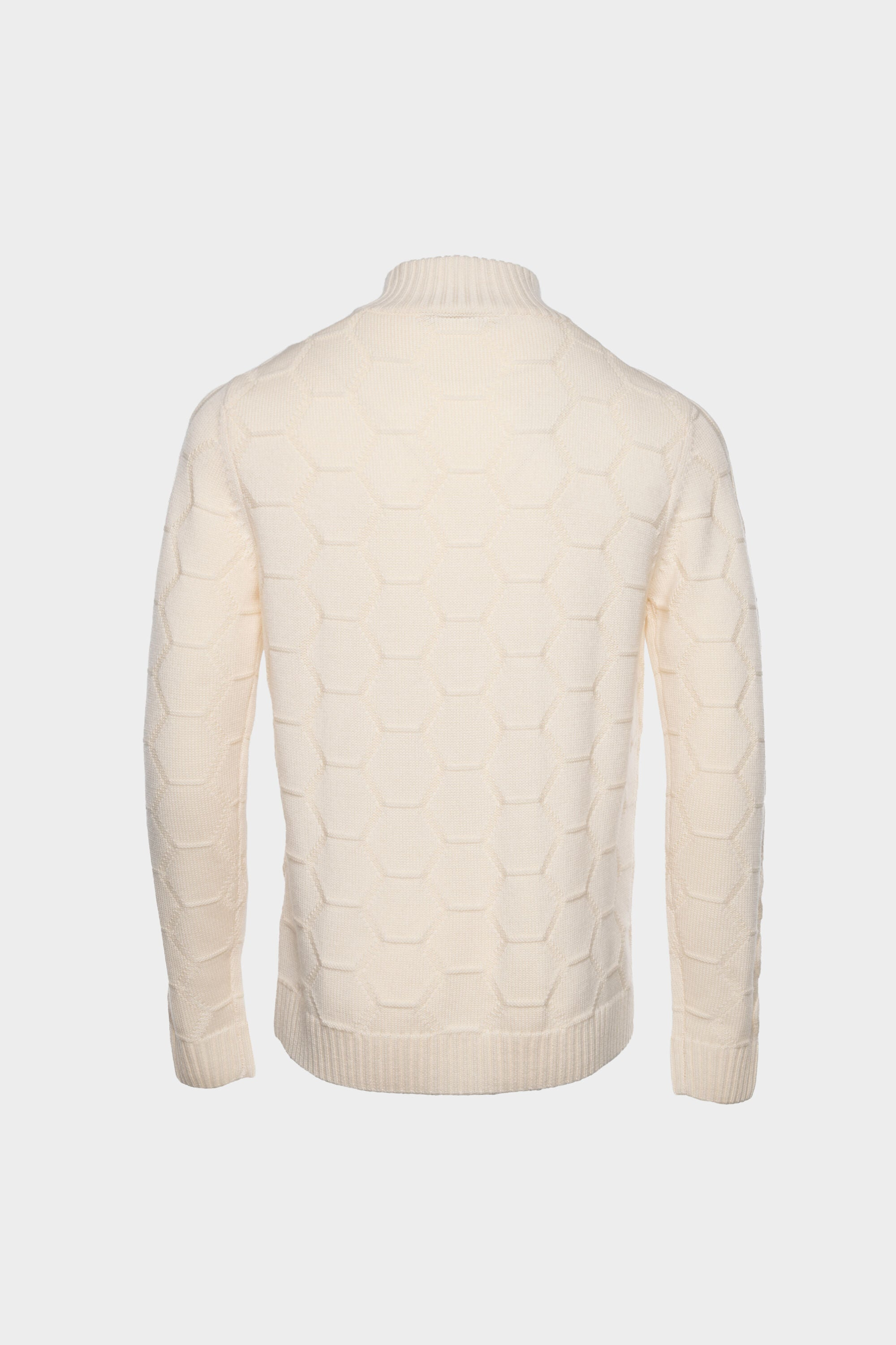 Knitted Hexagon Sweater Ivory