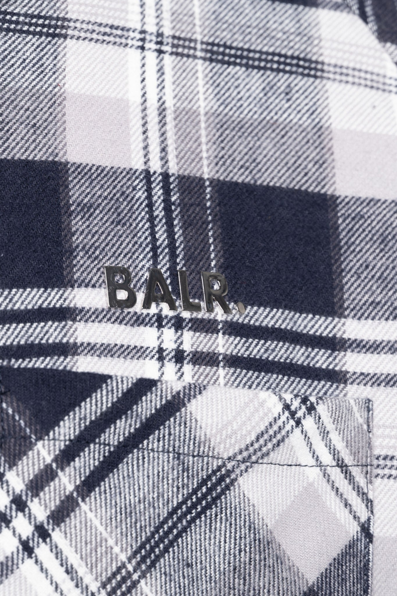 BALR. Checks Straight Shirt Dk Navy