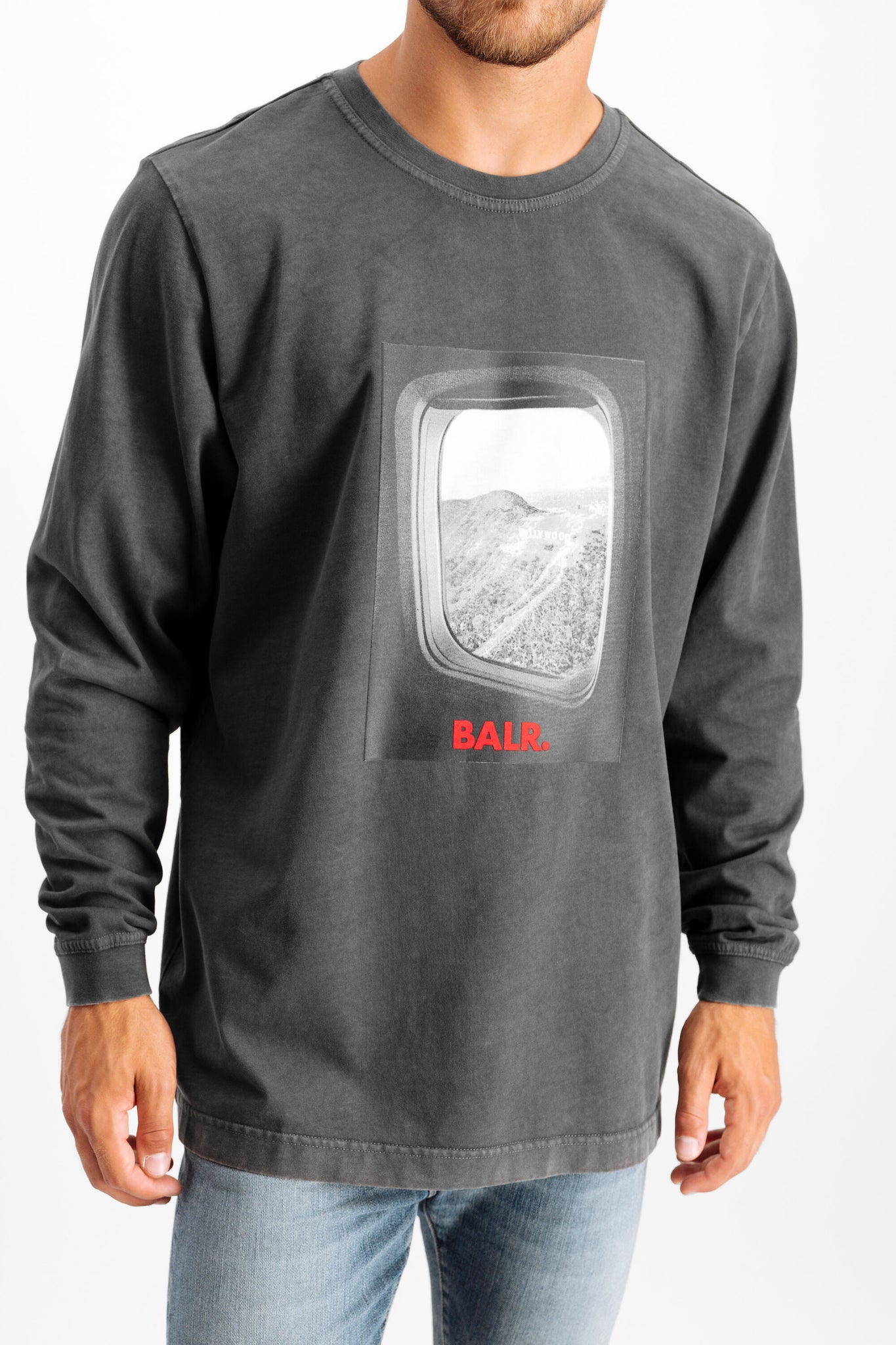 Plane Window Straight T-Shirt L/S Anthracite