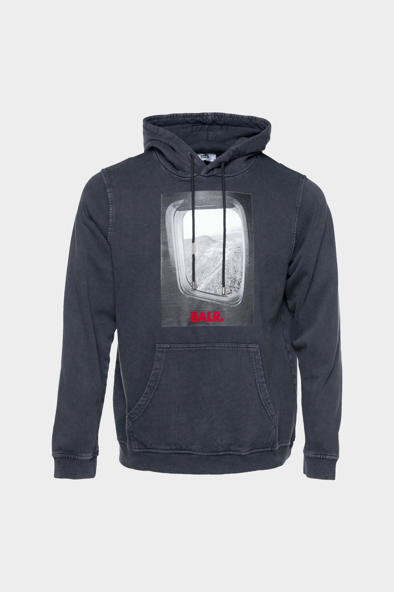 Plane Window Straight Hoodie Anthracite