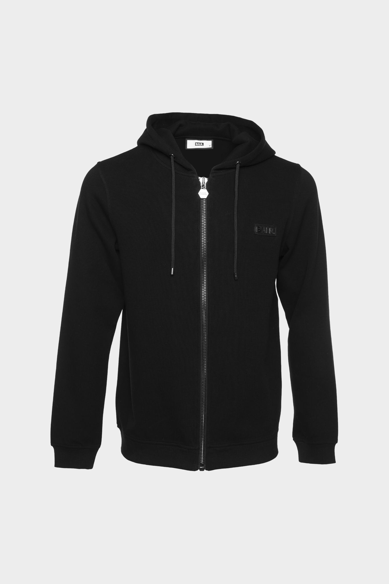 BALR. Straight Zip Thru Knitted Hoodie Black