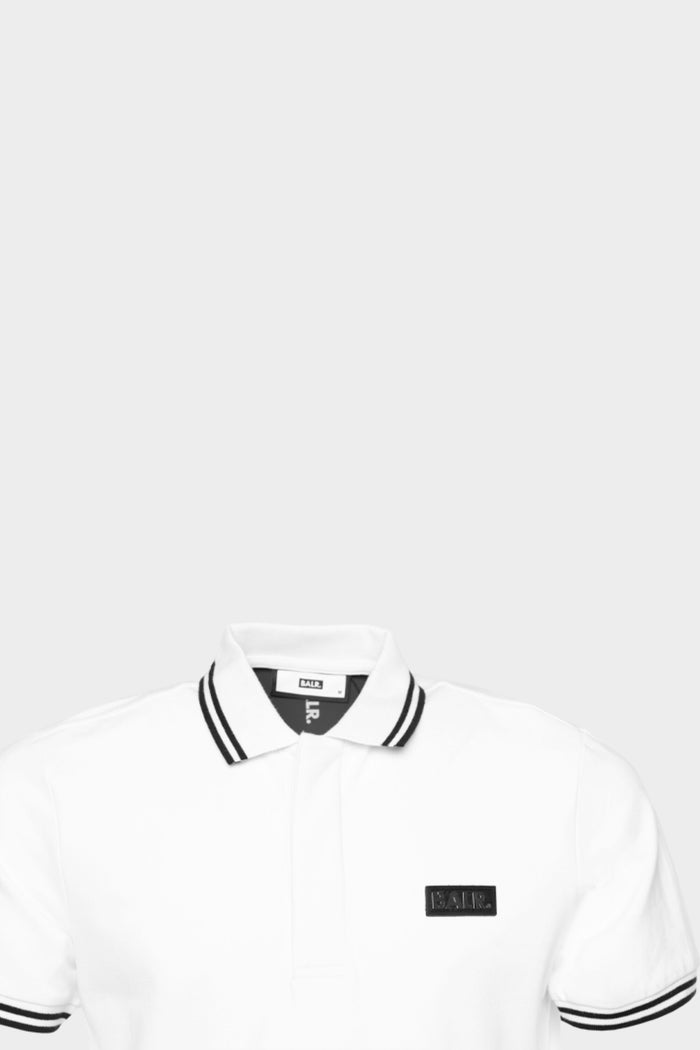 BALR. Two Stripe Polo White