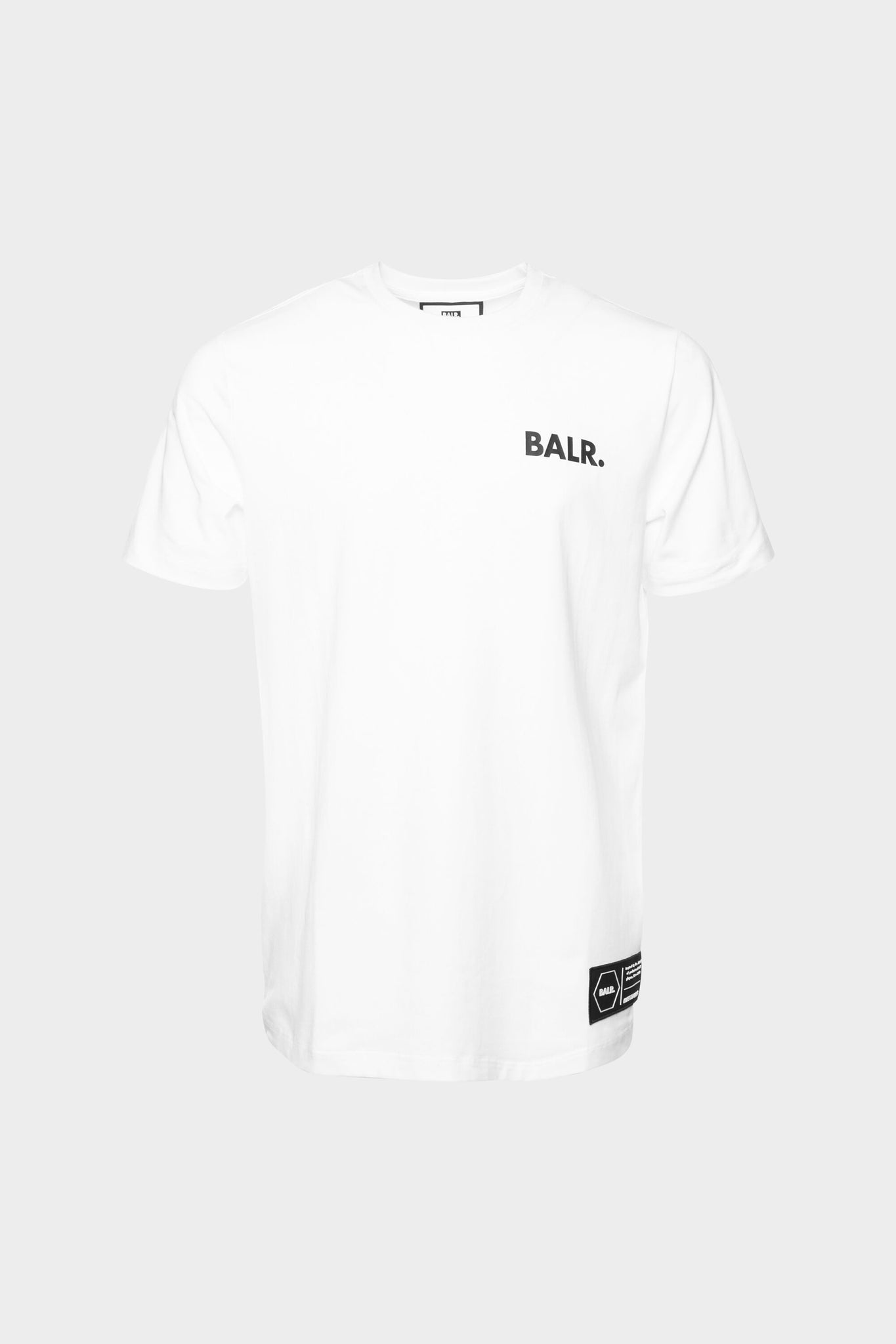 BALR. Love And Hate Straight T-Shirt White