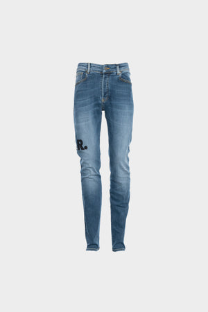 BALR. Leather Patch Mid Aged Jeans Slim Mid Aged