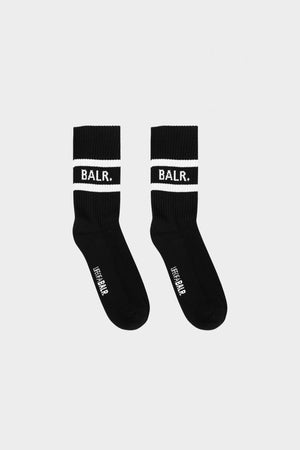 BALR. Striped Rib Socks 3-Pack Black