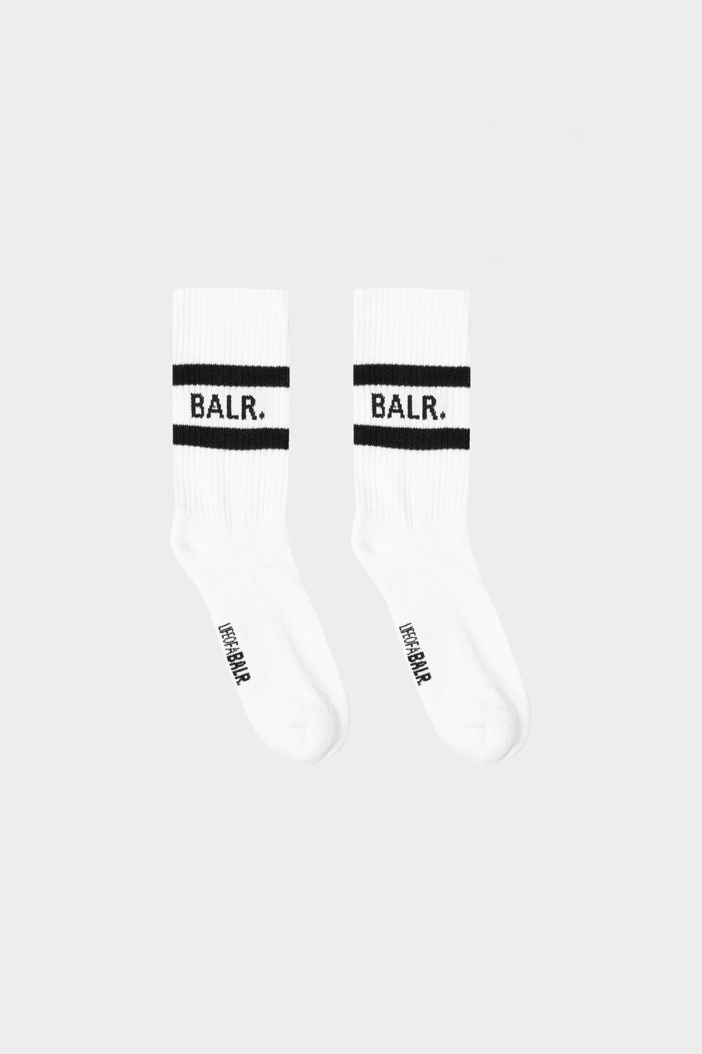 BALR. Striped Rib Socks 3-Pack White