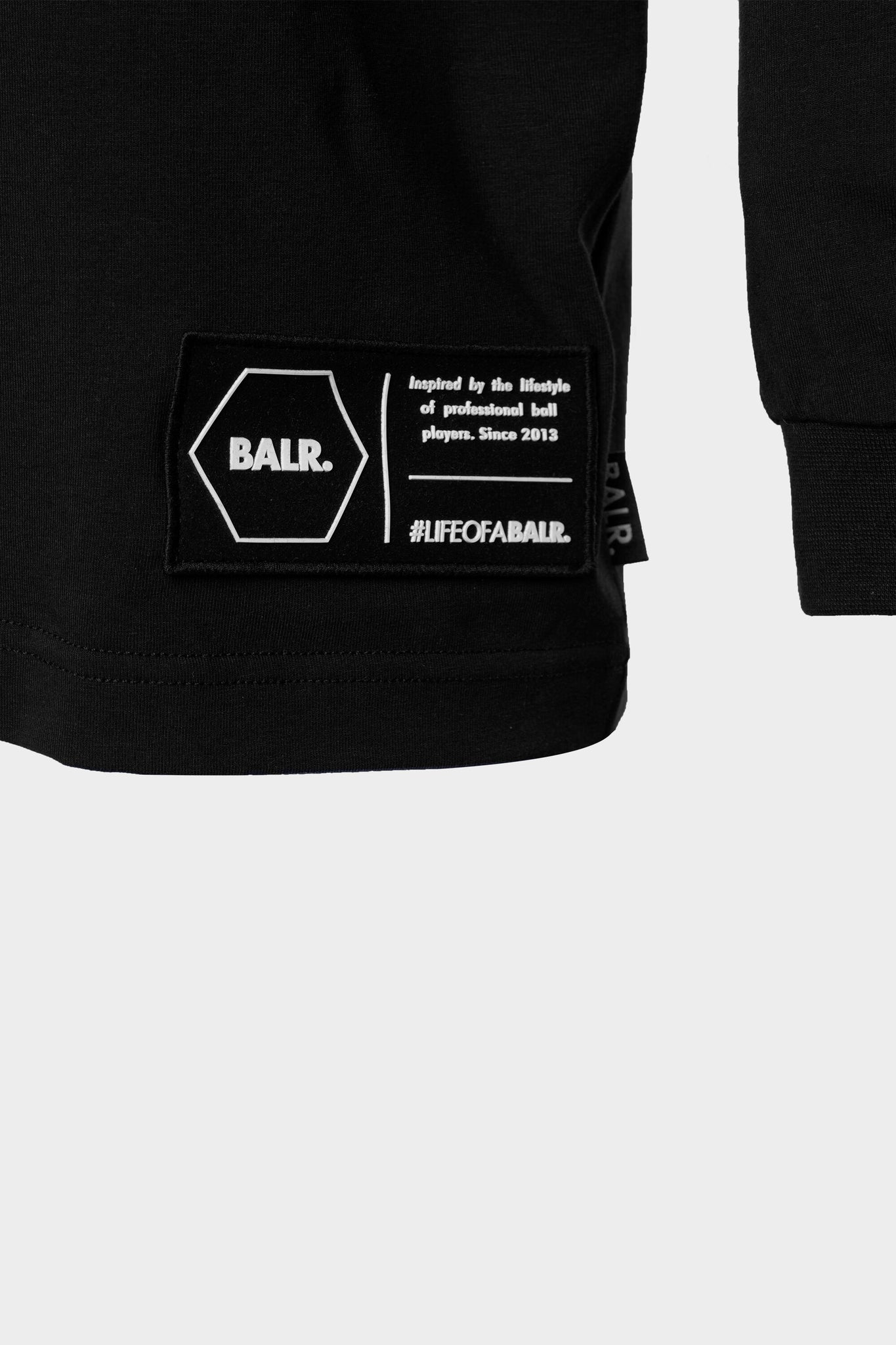 BALR. Lifestyle Straight T-Shirt l/s Black