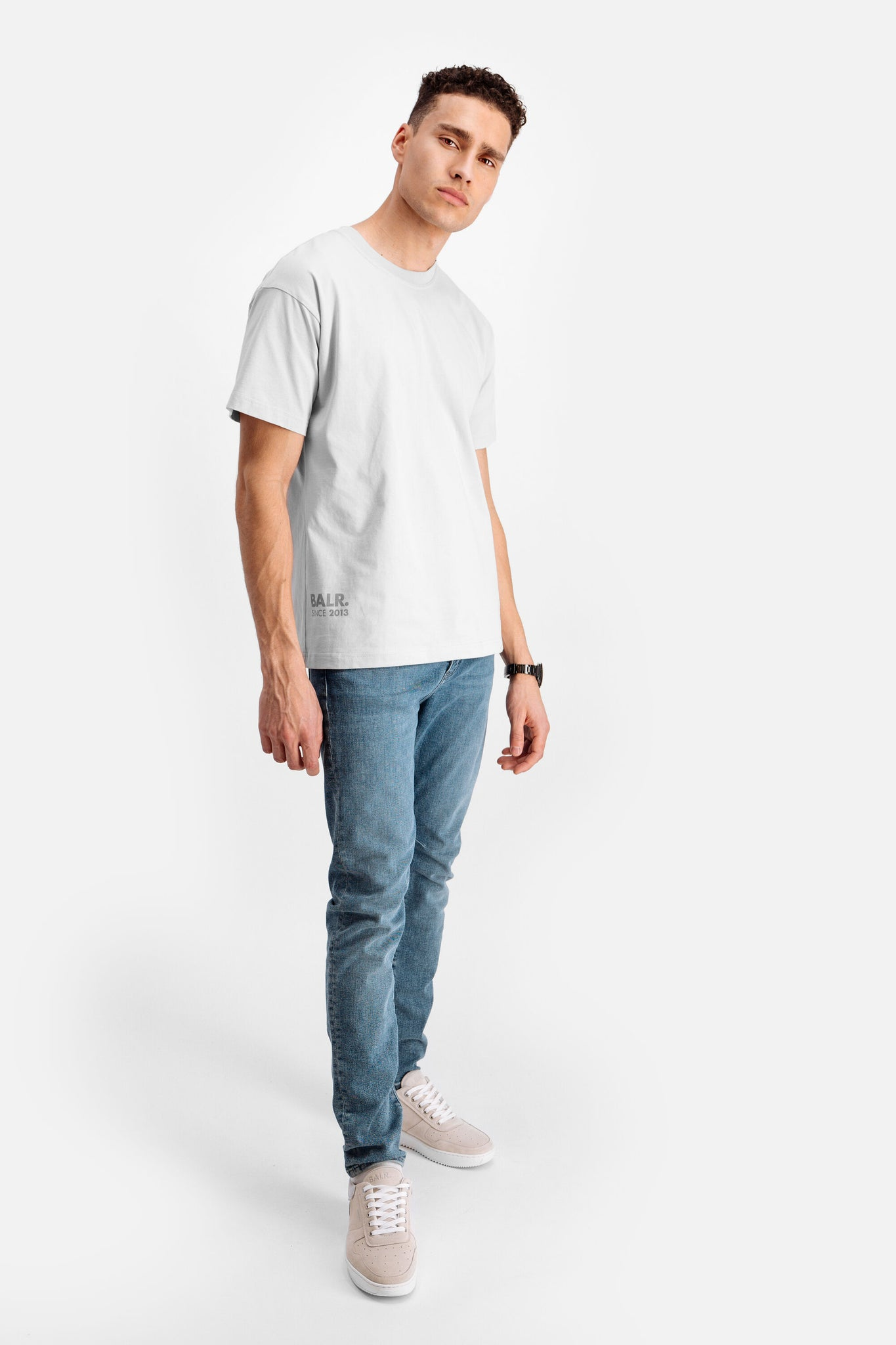 LOAB Back Oversized T-Shirt Nimbus Cloud