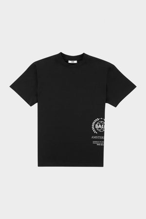 Crest Print Amsterdam Box Fit T-Shirt Jet Black