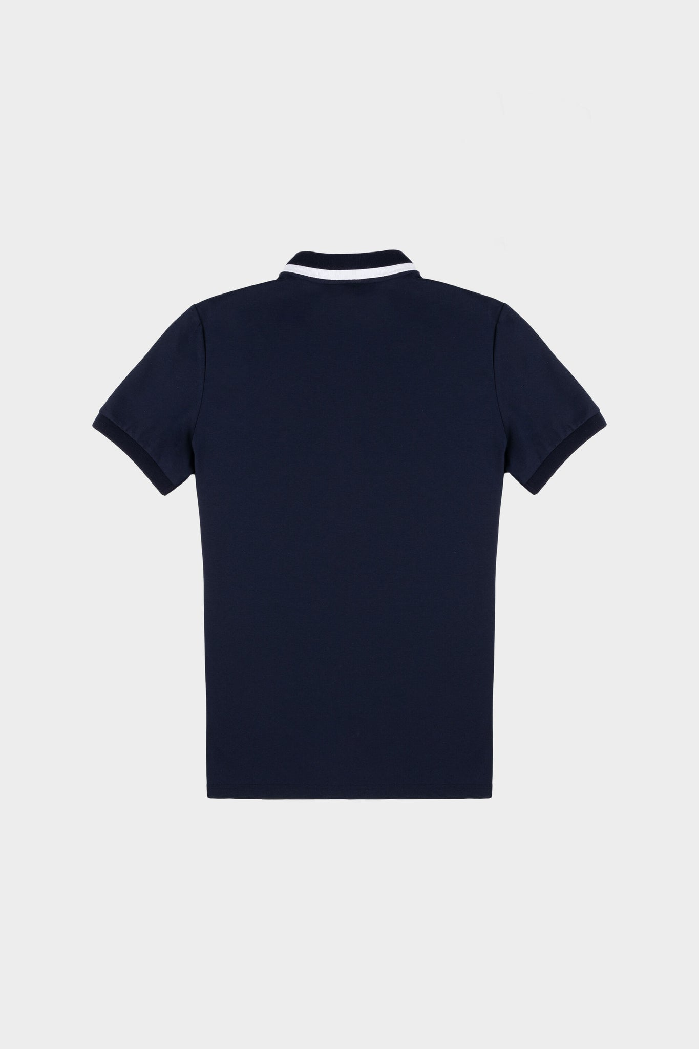 Webbing Tape Straight Polo Navy Blue