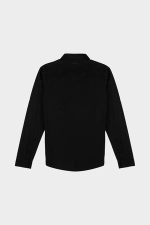 Felt Logo Slim Fit Brand Shirt Black