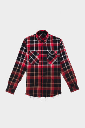 Check Overshirt Black/Red