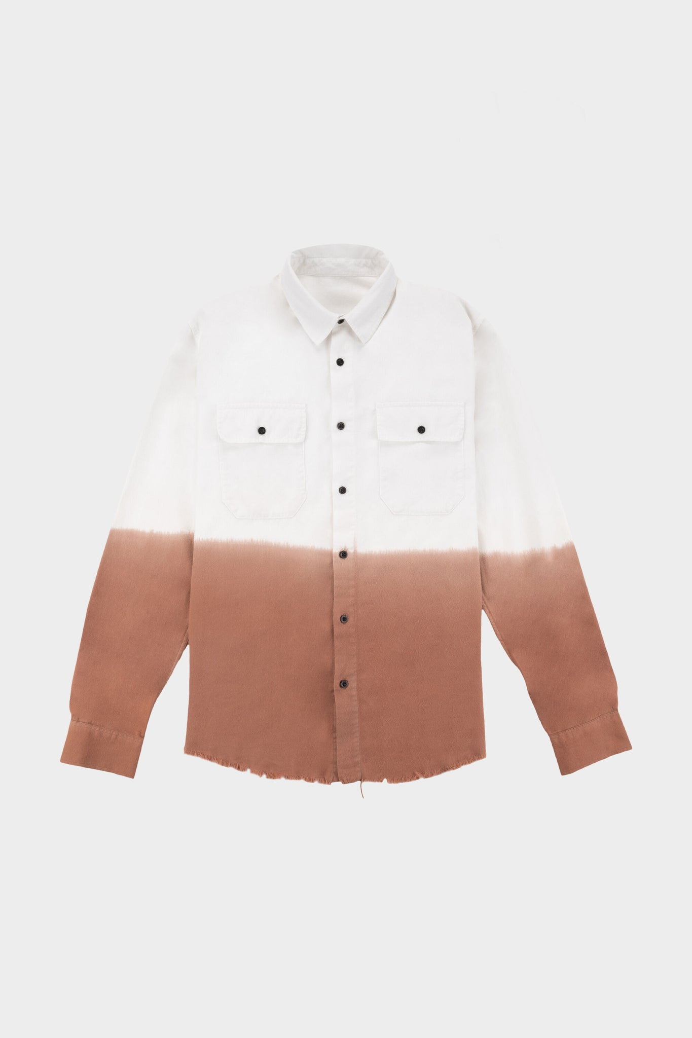 Sollid Dip Dye Overshirt Off White