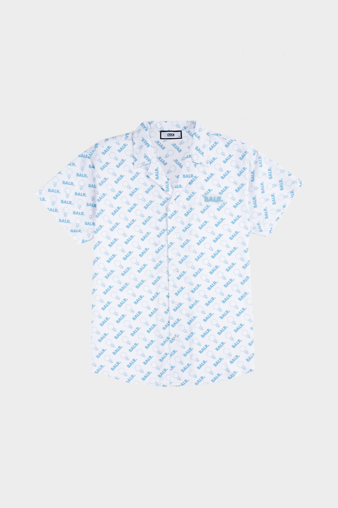 AOP Doll Box Fit Shirt S/S Light Stone/Sky Blue
