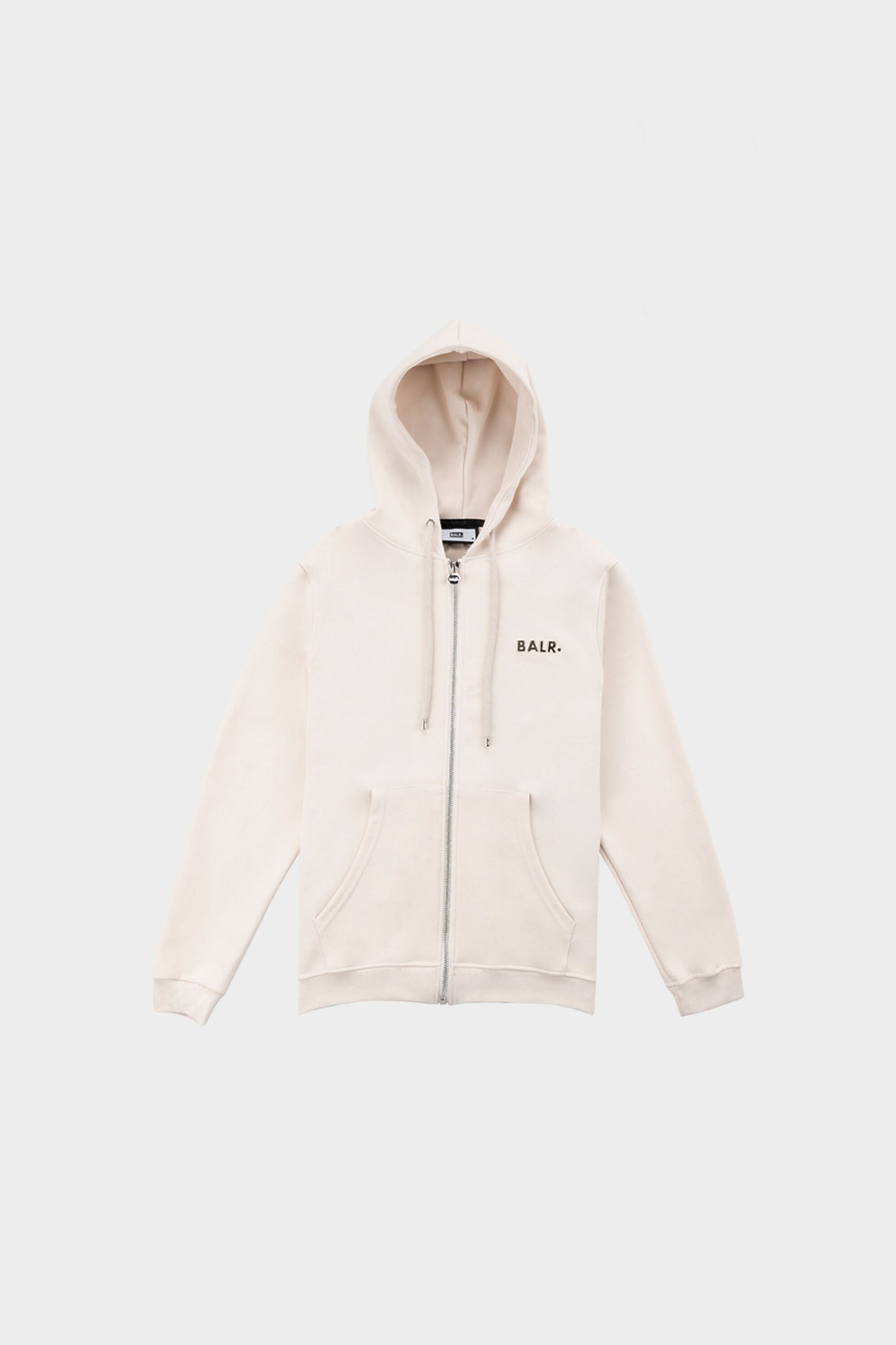 Q-Series Straight Zip Thru Hoodie White Swan