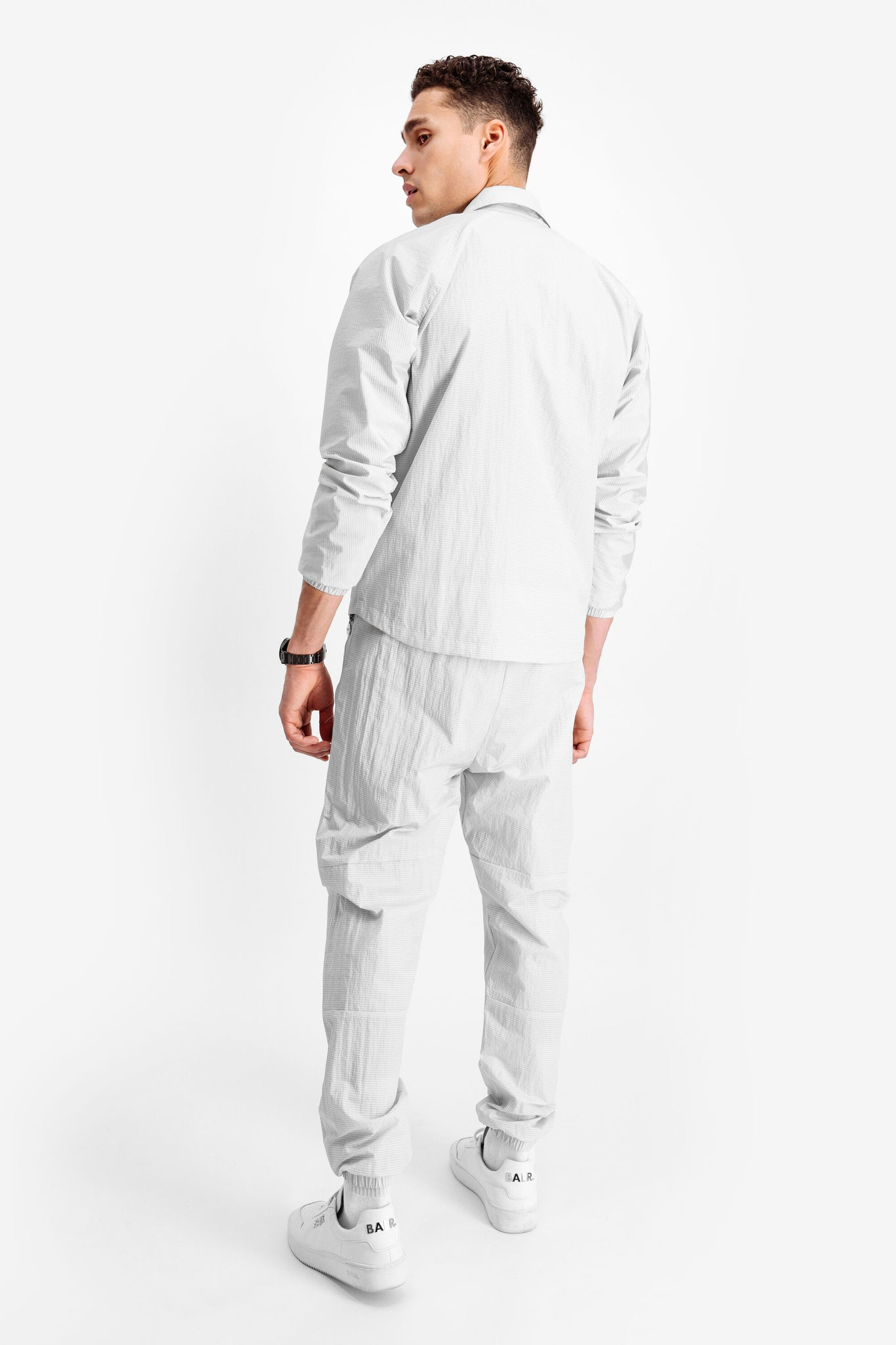 Tech Badge Straight Fit Track Pants Lt Grey