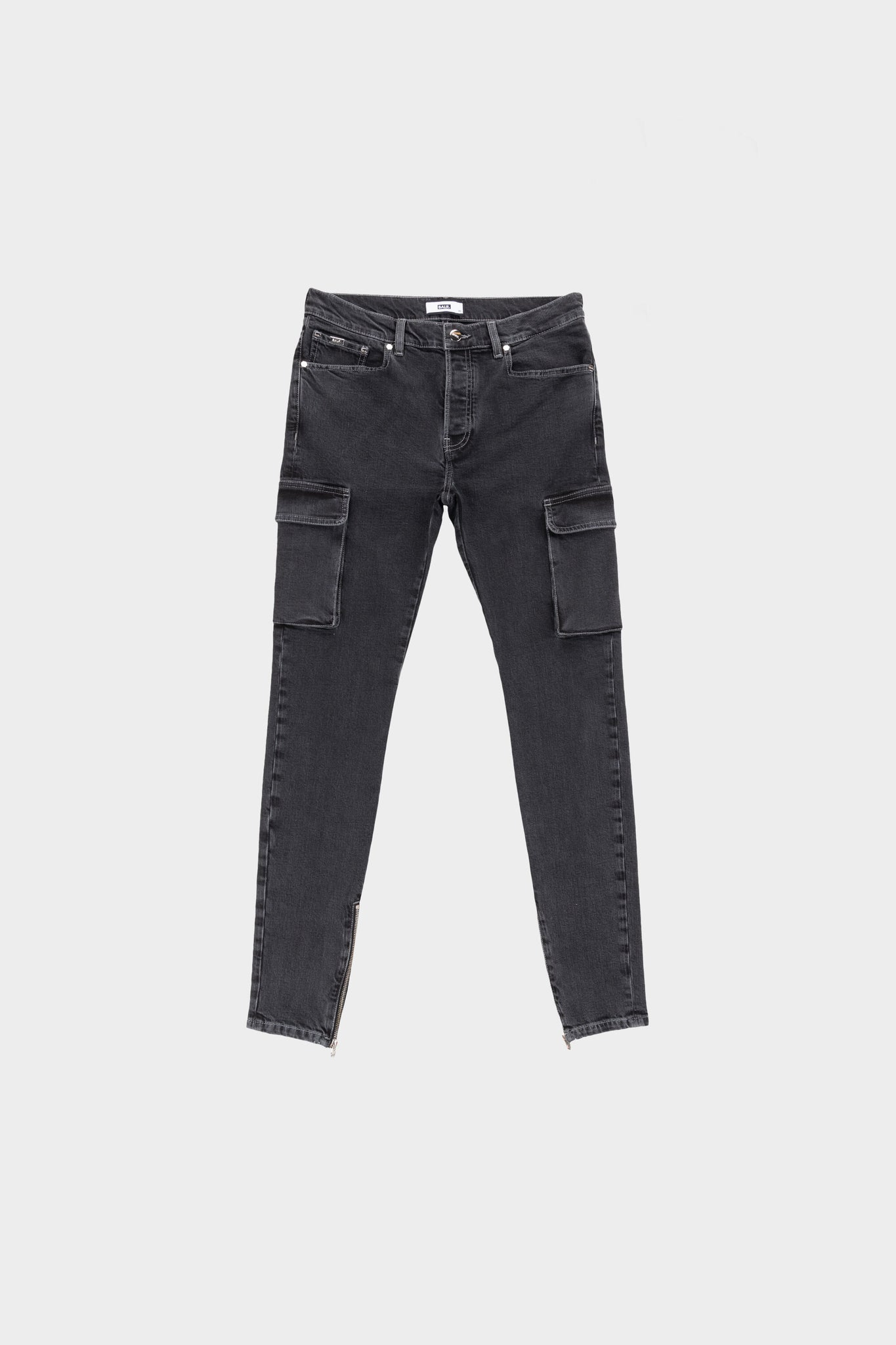 Cargo Slim Jeans Dark Grey Denim
