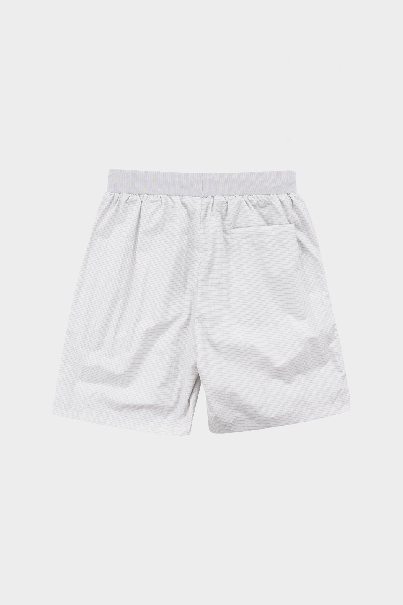 Tech Badge Straight Shorts Lt Grey