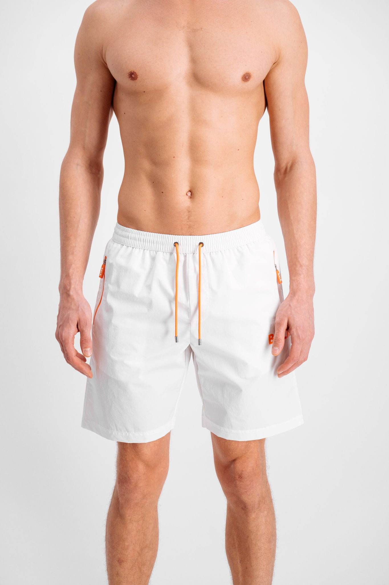 Rubber Badge Board Shorts White