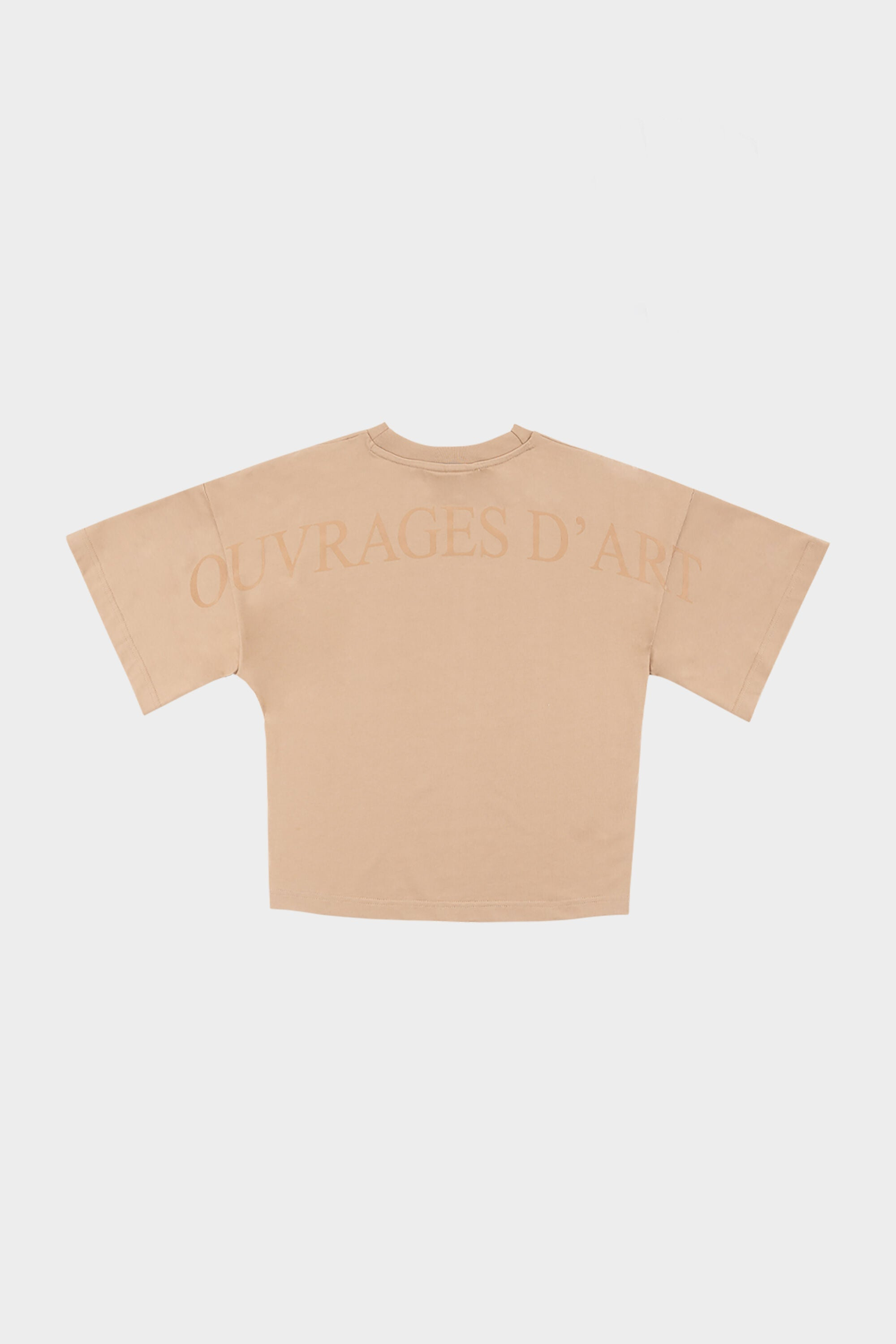 Ouvrages D'Art Wide Croped Tee  Pepper