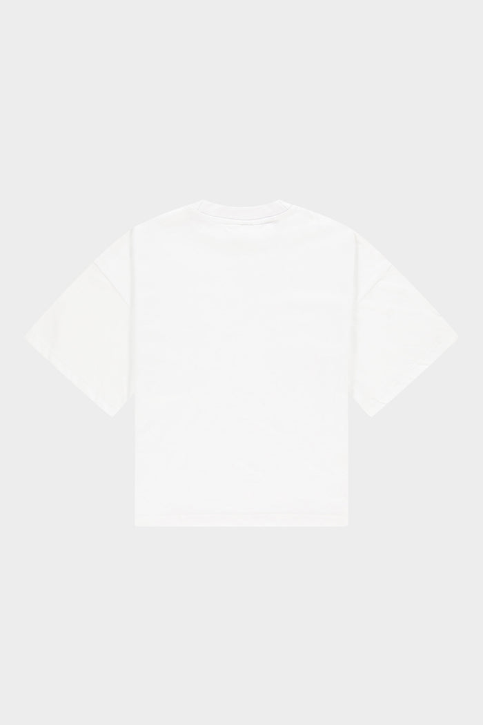 BALR. Wide Crop Tee Brand Women Bright White