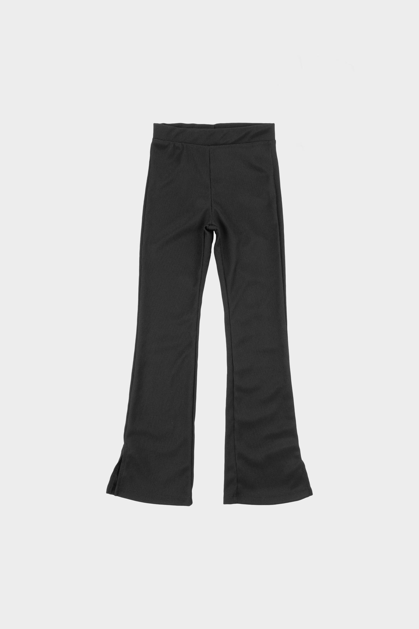 Kids Rib Flared Legging Jet Black