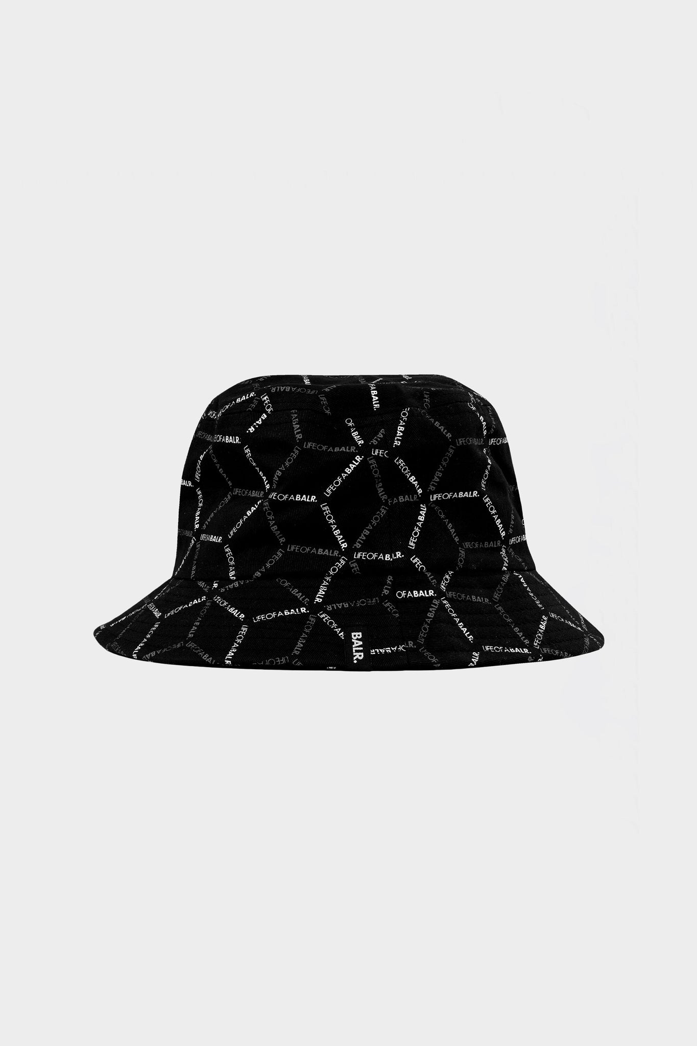 Hexagon AOP Buckethat Jet Black