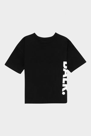 Kids Big Logo Loose T-Shirt Jet Black