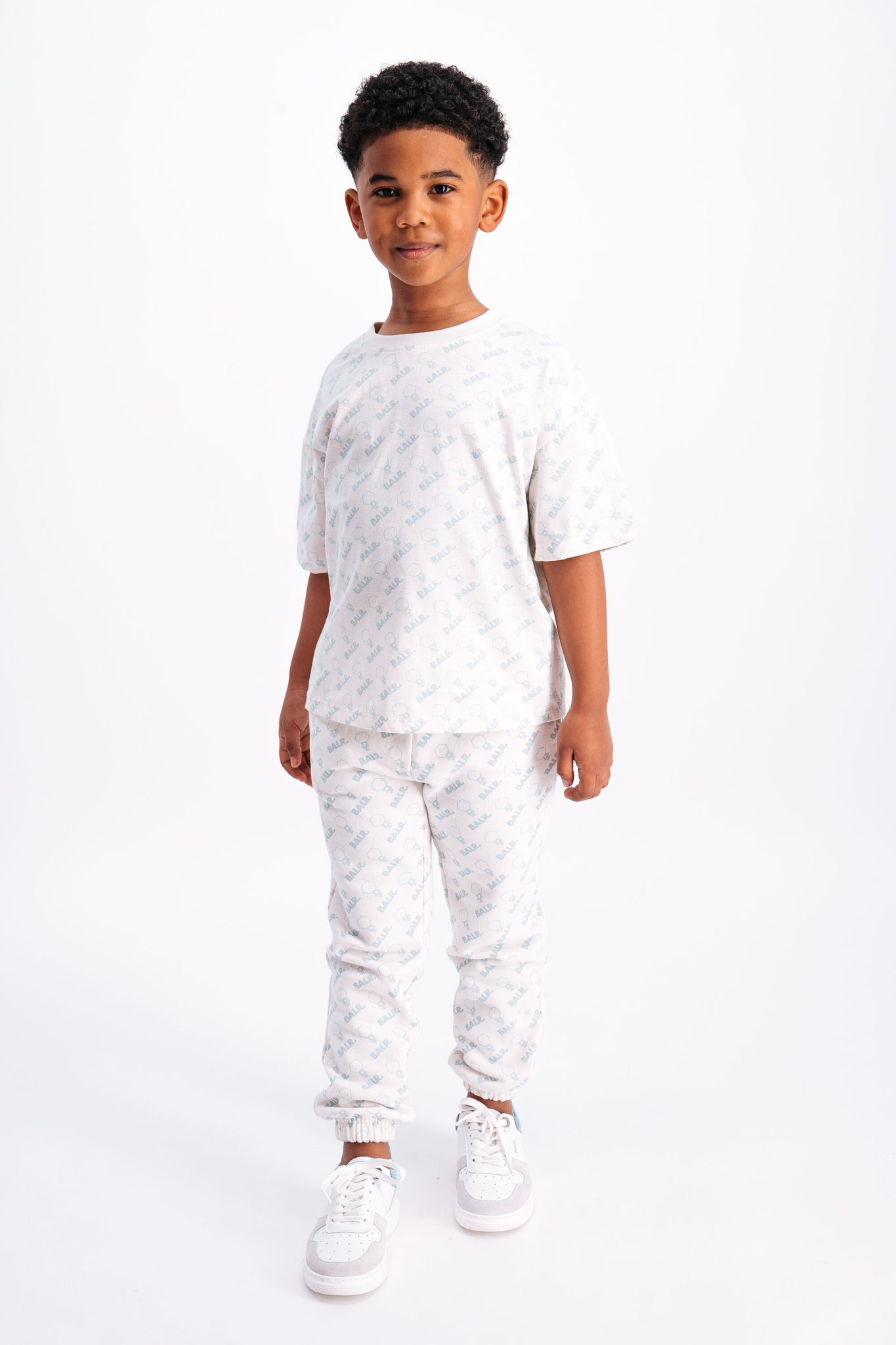 Kids AOP Hex Doll Loose T-Shirt Light Stone