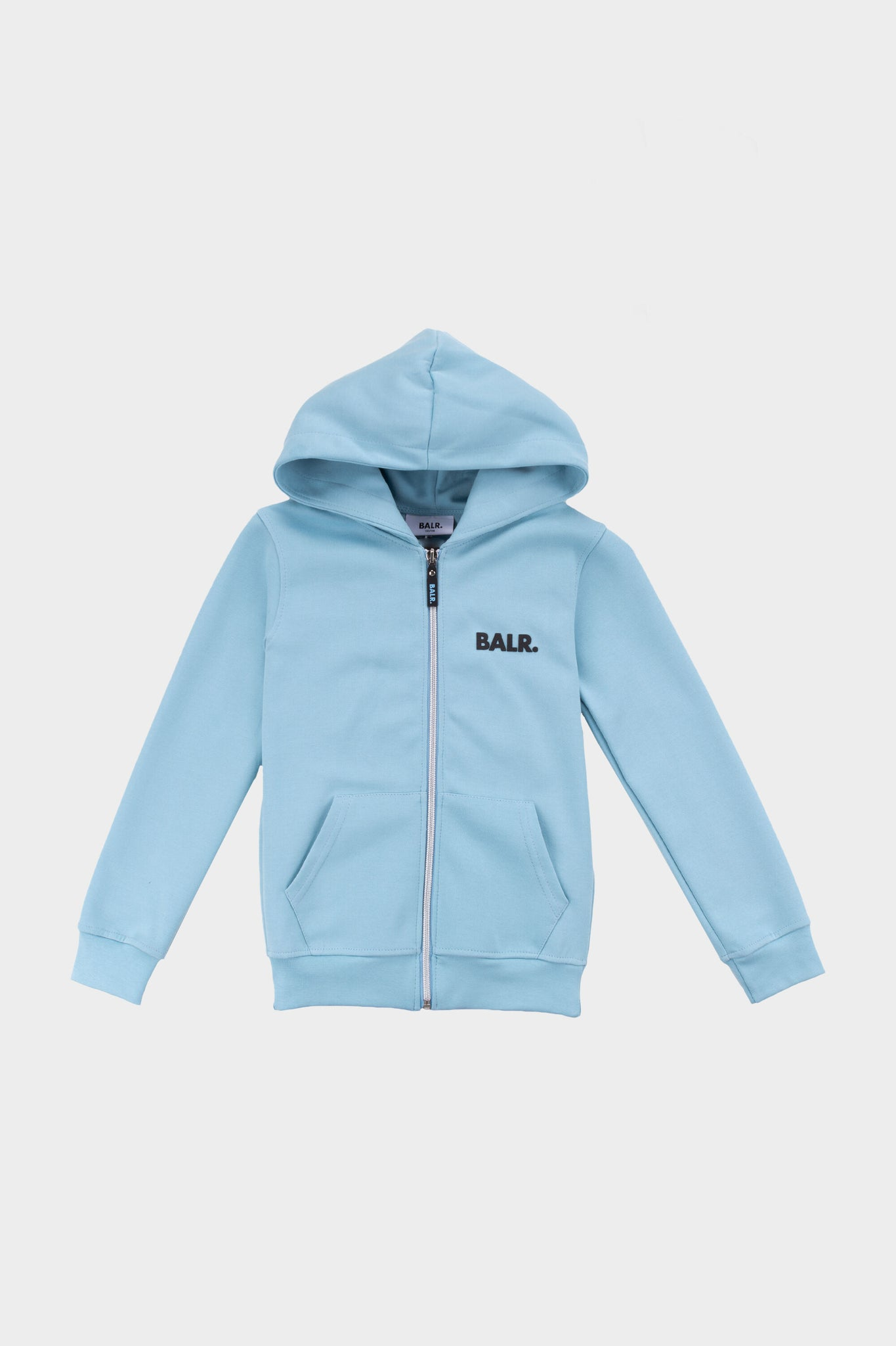 Kids Q-Series Zip Thru Hoodie Sky Blue