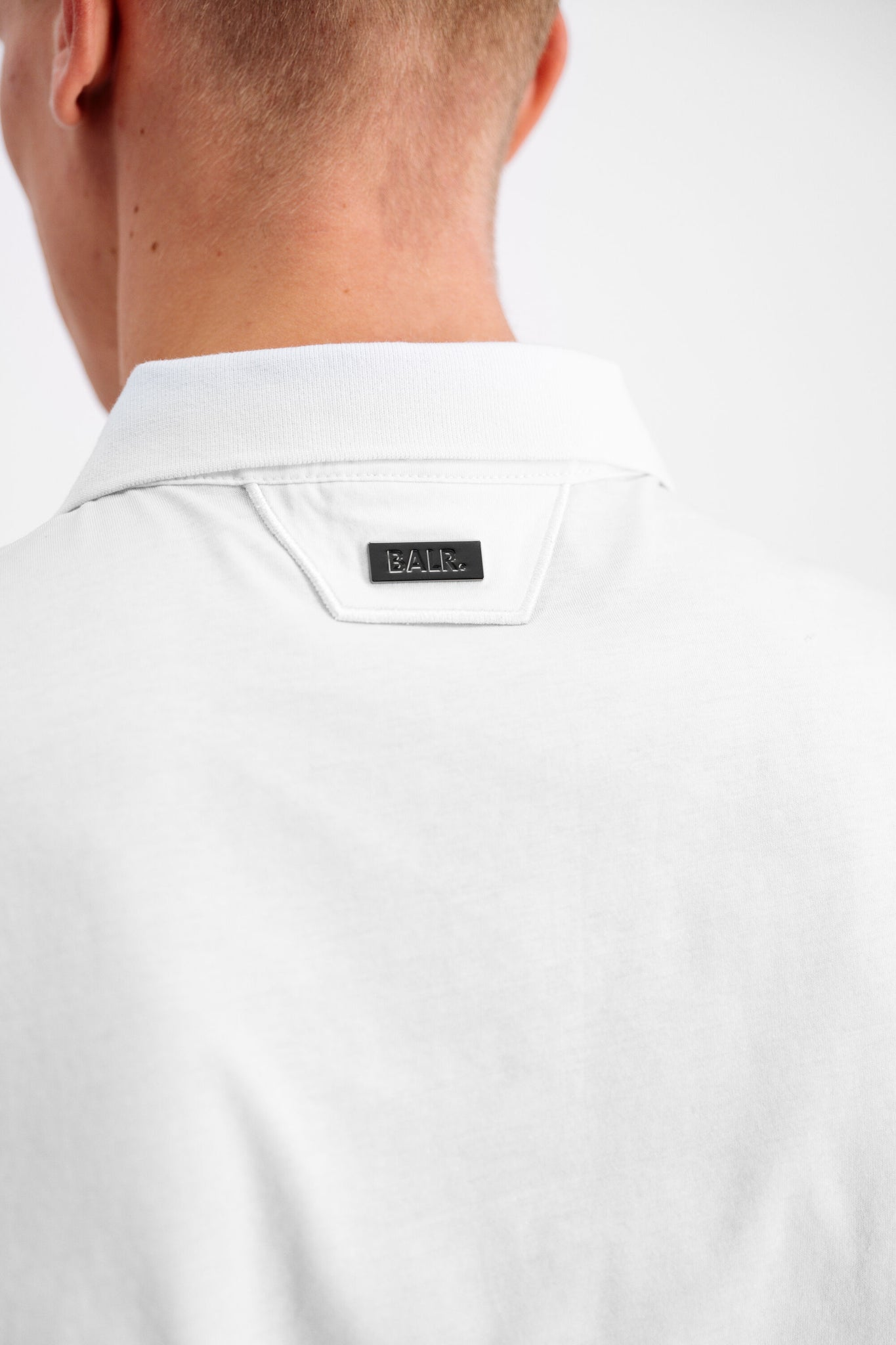 Felt Logo Straight Polo White
