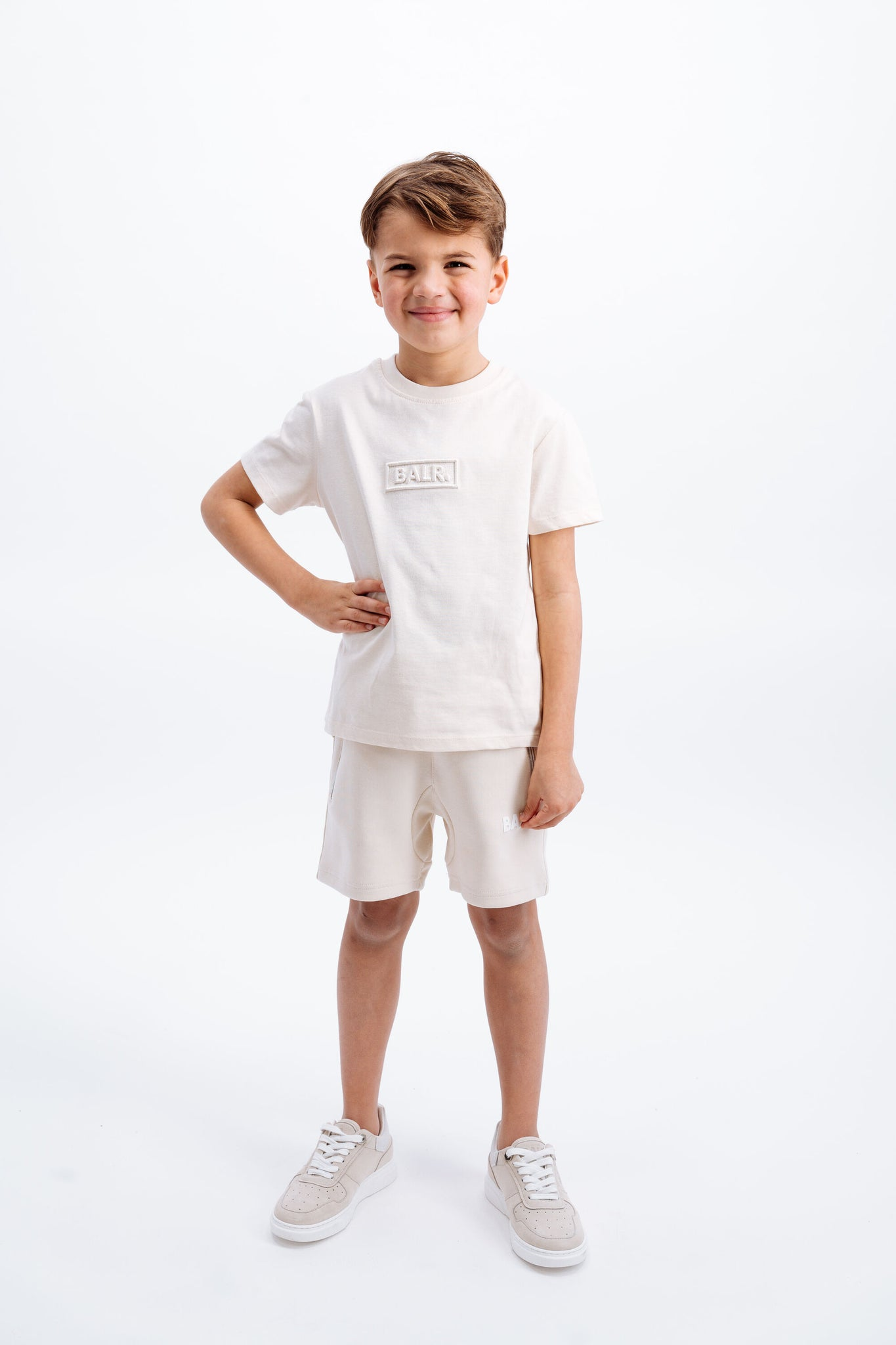 Kids Club Embro Box T-Shirt White Swan