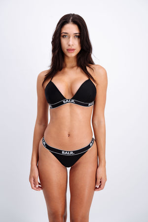 Cheeky Triangle Bikini Black