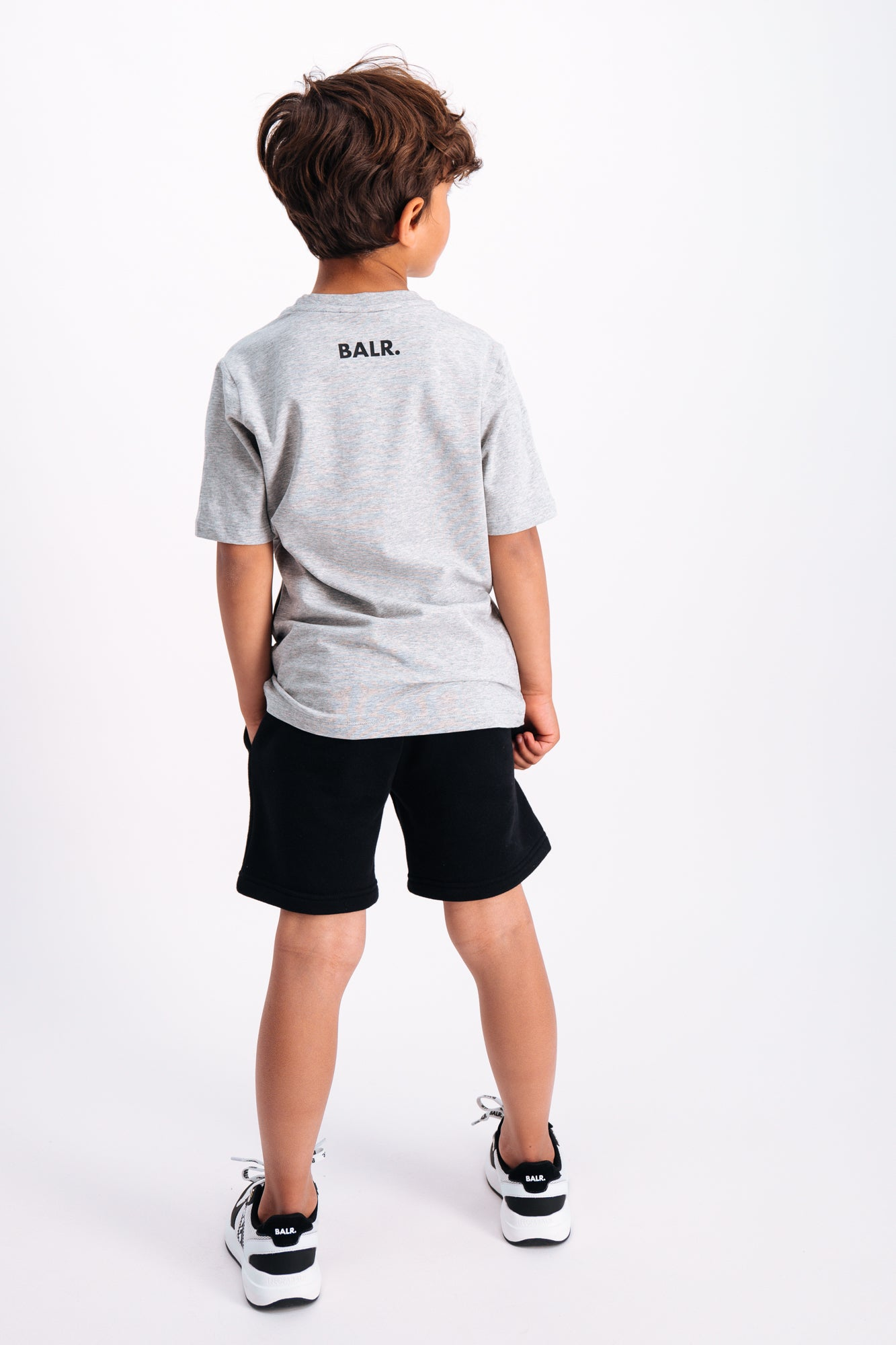 Tilted Logo T-Shirt Kids Lt Grey Heather