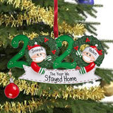 2020 Family Christmas Decoration Gift Personalized Resin Christmas Tree Hanging Ornament Pandemic