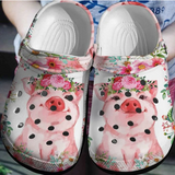 PIG FLOWER CROCS [ Buy 2 Free Shipping ]