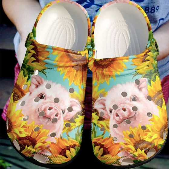 PIG SUNFLOWER  CROCS [ Buy 2 Free Shipping ]