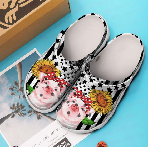 PIG SUNFLOWERS STYLE2 CROCS [ Buy 2 Free Shipping ]