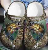 BASS FISHING CROCS CUTE [  buy 2 free shipping ]