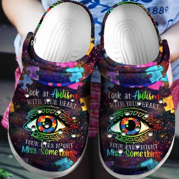 LOOK AT AUTISM WITH YOUR HEAR CROCS [  buy 2 free shipping ]