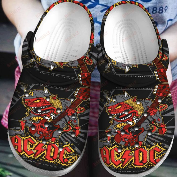 AC/DC CROCS CUTE2  [buy 2 free shipping ]