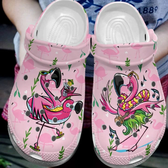 FLAMINGO CROCS CUTE [ buy 2 free shipping ]