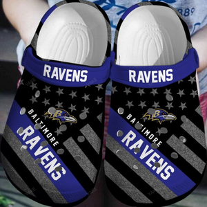 BALTIMORE RAVENS CROCS  [buy 2 free shipping ]