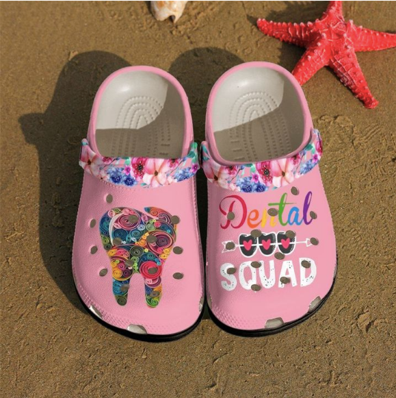 DENTAL SQUAD   CROCS CUTE [  buy 2 free shipping ]