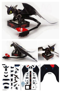 Toothless diy paper toys