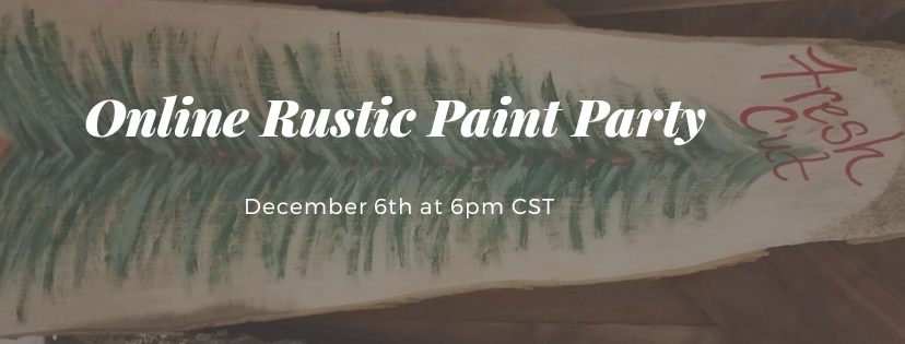 Rustic Paint Party online: Fresh Cut Pine Tree