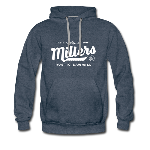 Men's Premium Hoodie - heather denim